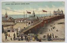 (w12d7-272) Grand Pier, WESTON SUPER MARE 1907 Used G-VG