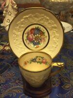 Vintage Crown Ducal Gainsborough England DEMITASSE Cup & Saucer - Mint