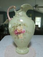 Antique Vintage Robert Hanke Austria RH Porcelain Pitcher Vase