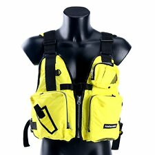 Amairne-made Boat Buoyancy Aid Sailing Kayak Fishing Life Jacket Vest-Yellow-EAM