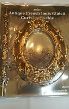1 Pair( 2 pieces)Antique French Louis Gilded Curtain Buckle/ Brooch/ Tie Back