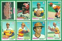 1978 TOPPS HOUSTON ASTROS TEAM SET NM  CABEL  CRUZ  CEDENO  NIEKRO  J R  RICHARD