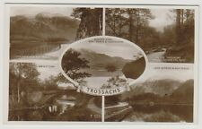 Stirlingshire postcard - Trossachs (Multiview showing 5 views) - RP