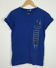 PUMA VINTAGE RETRO 90s TSHIRT TOP SHIRT SPORT ATHLETIC URBAN UK XS