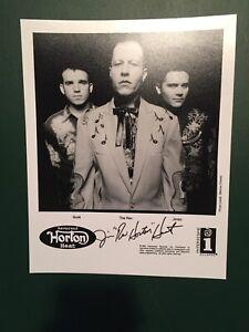 THE REVEREND HORTON HEAT 1996 SIGNED AUTOGRAPHED 8x10 PUBLICITY PHOTO