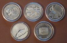 ALLE 5 SILBER-GEDENKMÜNZEN 10 EURO JAHRGANG 2002