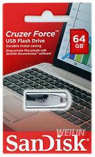 SanDisk Cruzer Force 64 GB Flash Drive 64G Stick Pen Key Memory Stick USB CZ71