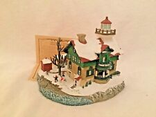 Signed Harbour Lights 712 Michigan City, In Christmas 2001 Lighthouse Coa Box