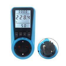 Ac Power Meter 230v Eu Plug Socket Digital Wattmeter Watt Energy Meter Timer