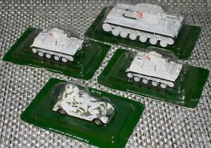 Lot of 4 1:72 Tank models 2 x T-40,KV-1,BA-20 Armored Machine. USSR . NEW