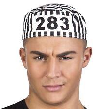 Adult Mens Stag Night Party Convict Prisoner Robber Fancy Dress Costume Cap Hat