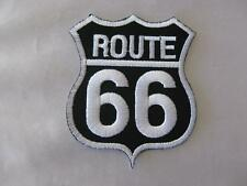 ROUTE 66 IRON ON/SEW ON EMBROIDERED CLOTH PATCH (P43)