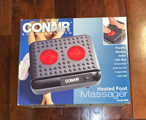NEW Conair Heated Foot Massager VIBRATING Vibrate Massage FM5 Body Benefits NIB
