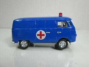 1965 VW VOLKSWAGEN AMBULANCE  with RR's  (blue) NEW 1/64