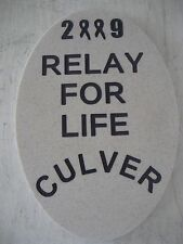 "2009 Relay For Life Culver, Indiana Stepping Stone 13"" X 9"""