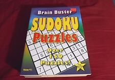 """NEW 2010 BRAIN BUSTER SUDOKU PUZZLES BOOK VOLUME #11 - 8"""" X 10-3/4"""""""