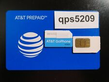 New At&T 3G /4G Preapaid Sim Card Standard 2Ff Mini