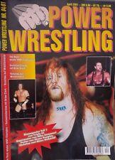 Power Wrestling August 2001 WWE WWF WCW + 4 Poster ()