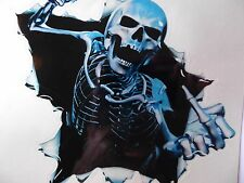 Vinyl Skeleton Car Truck Sticker Decal,Window,Bike Helmets,Skull,Amusing,Funny