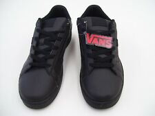 VANS MENS SKATE SHOES SKATER SKATEBOARD  CASUAL SIZE 12 LEATHER BLACK REIGER