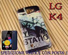 Cover custodia in gomma di silicone per Smartphone LG K4 fantasia AUTO VINTAGE