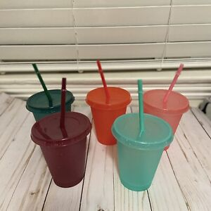 5 Kids Winter Glitter Cold Cups Tumblers 16oz Blank Reusable