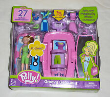 NEW Polly Pocket Groovy Getaway Suitcase Surprise Lila Playset Set 2003 B3517