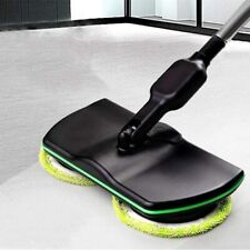 US Wireless Rechargeable Electric Mop Reusable Cleaning Pads Spin Powered Floor