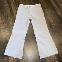 Vtg 60s 70s LEVI'S PANATELA Corduroy Pants MENS 34 28 Gray Bell Bottom Mod Disco