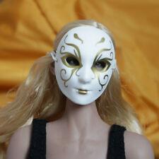 """NEW 1:6th White Skull Mask Veil Face Shield Model F12"""" Male Female Doll"""