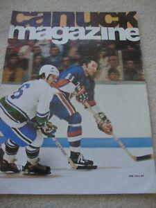 1974 NHL PROGRAM.VANCOUVER CANUCKS v CALIFORNIA GOLDEN SEALS.STAN WEIR.DON LEVER