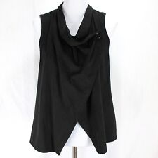 Jack by BB Dakota Vest Sz XS Black Asymmetrical Suede Texture
