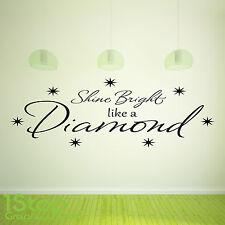 Rihanna brilla como un diamante pegatinas de pared cita-el arte de pared calcomanía X122