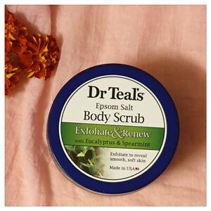 Dr Teal's Epsom Salt Body Scrub Exfoliate & Renew Eucalyptus 7 Spearmint 454g