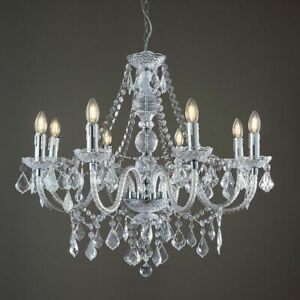 ENDON CLARENCE 8 Lights Dimmable Chandelier Acrylic & Chrome Plate 308-8CL