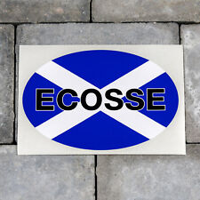 Scottish Ecosse Saltire Flag Oval Shape Vinyl Sticker Decal Car Van - SKU5661