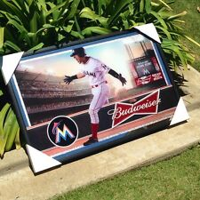 Budweiser Miami Marlins Major League Baseball Beer Bar Mirror MLB Sign