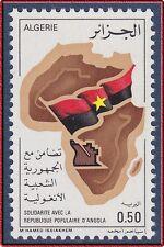 ALGERIE N°640** Carte d'Afrique, 1976 Algeria Africa map MNH