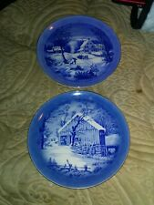 Lot Of 2 Vintage Currier And Ives Collectors Plates Made In Japan