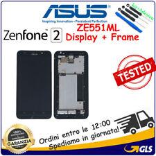 TOUCH SCREEN + Frame LCD DISPLAY PER Asus Zenfone 2 ZE551ML Z00AD Z00ADA NERO