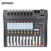 8 Channel Digtal Mic Line Audio Mixing Mixer Console with 48V Phantom Power S2B0