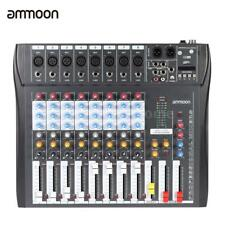 8 Channel Digtal Mic Line Audio Mixing Mixer Console 48V Phantom Power Recording