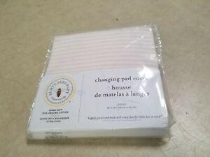 "Burt's Bees 100% Organic Standard 16"" x 32"" Changing Pad Cover, Blossom Stripe"