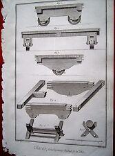 21-38-16 Gravure 18e Diderot et d'Alembert glaces développement du pied table