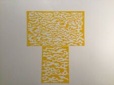 Gas Vapor Camo Pattern Stencil Pack, Avery Vinyl, Duracoat, Cerakote, Krylon!