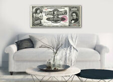"""Large Poster $1000 Silver Certificate, Marcy 16""""x 40"""" Printed on Canvas"""