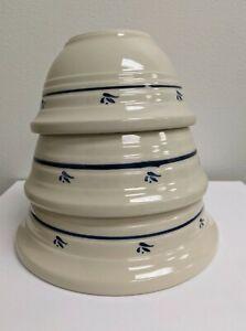 Set Of 3 - Roseville Pottery Friendship Nesting Mixing Bowls 1.5 qt 1.25 qt 1 qt