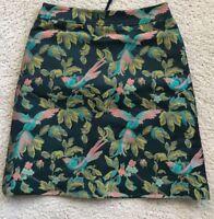 Leifsdottir Anthropologie Jacquard Shangri-La Bird Skirt 6 New