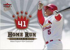 2006 Ultra Home Run Kings #HRK1 Albert Pujols  St. Louis Cardinals Angels HOF