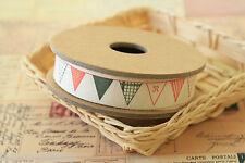 Cinta De Costura empavesado banderas Tejido mezcla de algodón Tejido Trim Zakka colorido Cinta